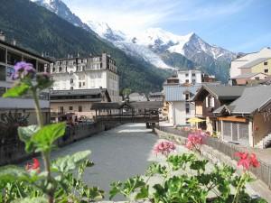 Starting the trek from Chamonix
