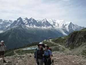 Norma & I starting the trek