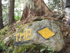 TMB trail markers