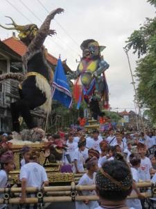 Nyepi parade on Monkey Forest Road