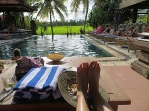 Relaxing during Nyepi