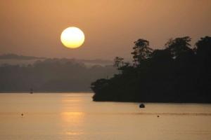 Serene Lake Gutan, Panama as 2009 becomes 2010