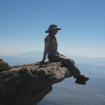 Contemplating Mt Whitney atop Cucamonga