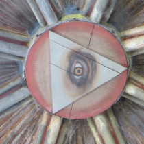 Eye peers down from the dome of the Cathedral